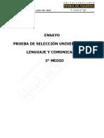 Experiencia PSU LE03 3M 2019