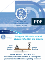 Using Ib Rubrics in Leading Student Reflection