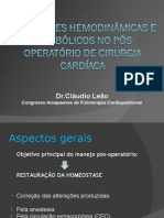 Alterações PO cirurg cardiaca
