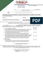 Parental Consent Declaration of Good Health