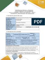 Guía de Actividades y Rúbrica de Evaluación - Paso 2 - Formulación y Documentación Del Anteproyecto