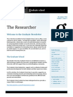 The Researcher Issue 1 Nov 2010