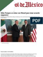 Mike Pompeo se reúne con Ebrard para tratar acuerdo migratorio - El Sol de México.pdf