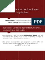 3.7 Derivada de Funciones Implícitas.