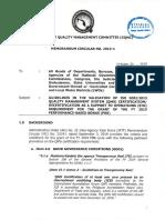 Gqmc Memorandum Circular No. 2019 1 Dated October 23, 2019