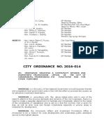 Cabadbaran City Ordinance No. 2016-14