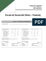 Escala Dllo Motor Peabody Completo