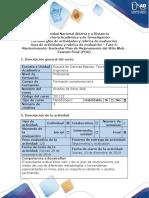 Guía de actividades y rúbrica de evaluación - Fase 5 - Mantenimiento - Sustentar Plan de Mejoramiento del Sitio Web Examen Final (POA).pdf