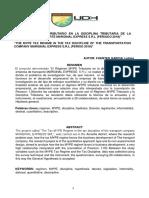 """""""EL REGIMEN MYPE TRIBUTARIO EN LA DISCIPLINA TRIBUTARIA DE LA EMPRESA DE TRANSPORTE MARGINAL EXPRESS S.R.L (PERIODO 2019)"""""""