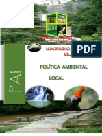 Politica Ambiental Local de Jepelcio
