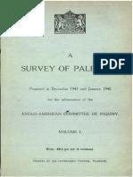 A Survey of Palestine Dec 1945-Jan 1946 Vol i