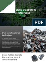 Recyclage d'appareils électronique