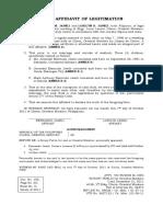 Joint Affidavit of Legitimation (Jawili)