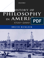 KUKLICK - A History of Philosophy in America (1720-2000)