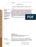 Evaluation of the performance of different filters for sewage treatment