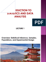 Lecture 1 Inferential Statistics