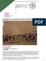 Argentina Regimientos y Batallones de La Santa Federacion (1829-1852)