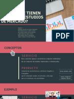 Producto y Servicios. Estudio de Mercado.