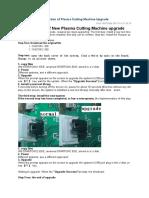 Instruction of Plasma Cutting Machine Upgrade