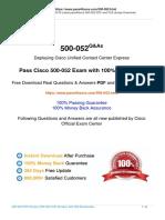 2019 Pass4itsure 500-052 Exam Dumps Practice Test Questions