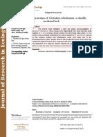 Rapid in vitro regeneration of Geranium robertianum - a valuable medicinal herb