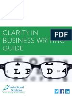 Clarity in Business Writing Guide