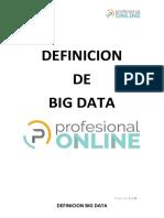 Definicion de Big Data