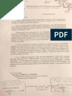 DFA Sec Teddyboy Locsin's Letter to Sen Loren Legarda