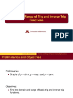15 - Domain and Range of Trig Fns