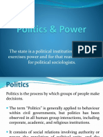 Lecture 3-Politics and Power