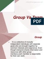 Group vs team
