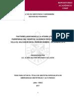 Factores Asociados a La Atonía Uterina en Puerperas - Lic. Olinda - Obstetricia
