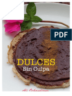 RECETAS DULCES Y SALUDABLES SIN CULPA