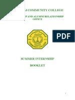 Summer Internship Handbook