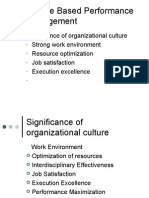 Culture Based Performance Management