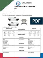 Procès verbal de l'état du véhicule