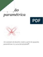 Equação Paramétrica – Wikipédia, A Enciclopédia Livre