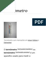 Termômetro – Wikipédia, A Enciclopédia Livre