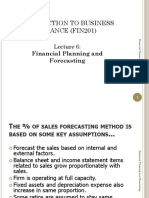 Lecture6-Planning & Forecasting