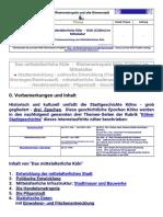 Das Mittelalterliche Köln - Köln (Cöllen) Im Mittelalter. Geschichte Der Rheinmetropole Und Alten Römerstadt Ab Um 455 Bis Um 1500 Und Frühe Neuzeit Mit Geschichtsdaten