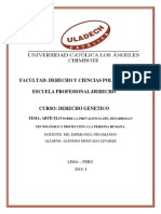 Artículo Sobre La Prevalencia Del Desarrollo Tecnológico y Protección a La Persona Humana