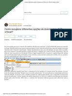 Como Recuperar Diferentes Opções de Download Do SAP Para o Excel