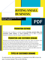 Promoting Small Business and Managing Small Business