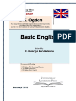 Charles Ogden Basic English Volume Three