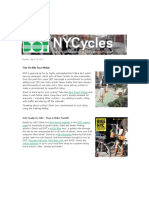 NYCycles Take the Bike Smart Pledge