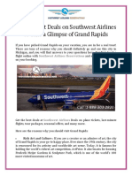 Scroll Latest Deals on Southwest Airlines to Take a Glimpse of Grand Rapids