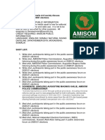 AMISOM, Somalia Civil Society Discuss Management of 2020 2021 Elections