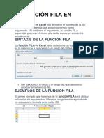 La Función Fila en Excel Matricial