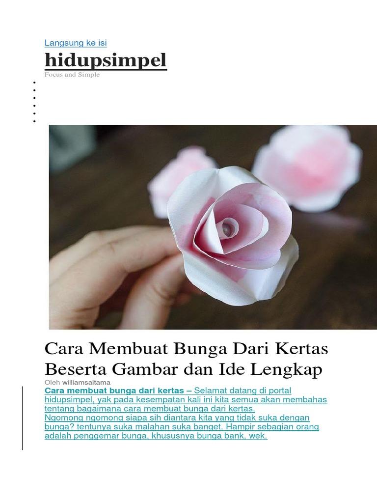 Cara Membuat Bunga Dari Kertas Beserta Gambar Dan Ide Lengkap