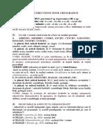 Teste ortografice Cluj - Facultatea de litere